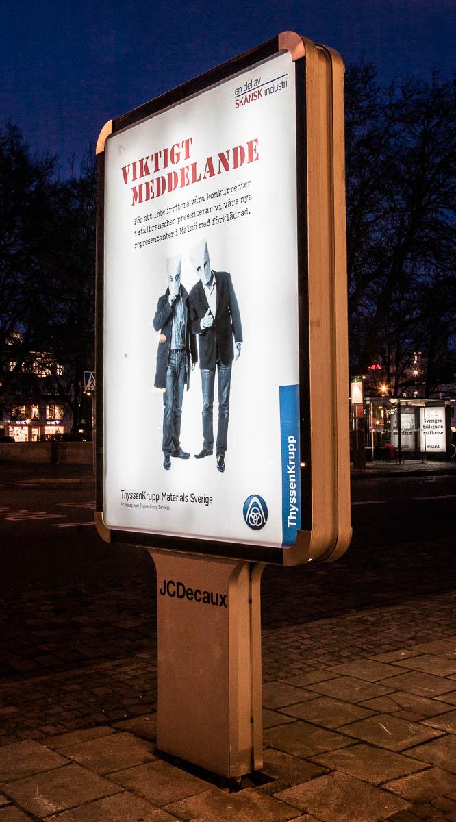 ThyssenKrupp Viktigt Meddelande– etableringskampanj