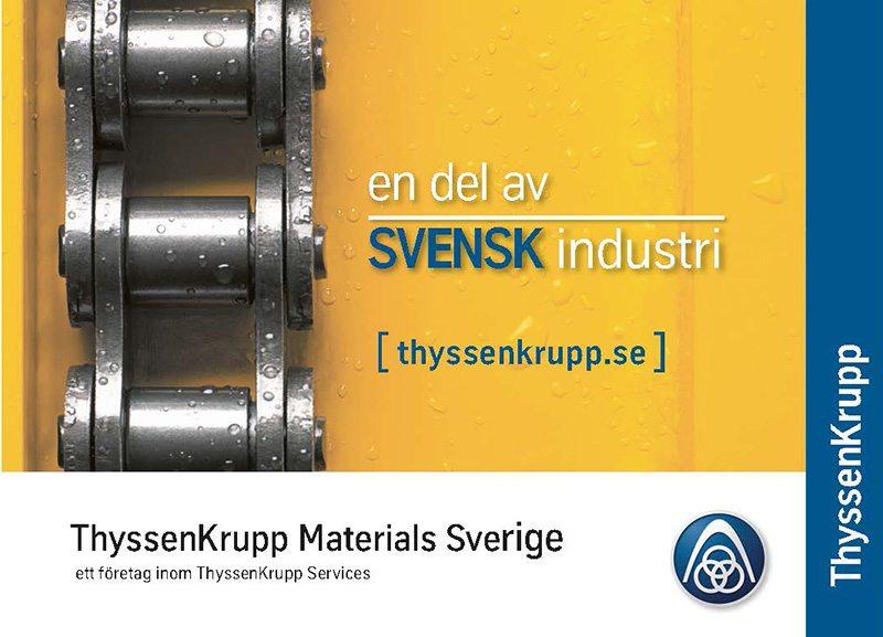 ThyssenKrupp en del av svensk industri– annonskampanj