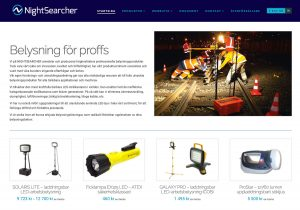 Nightsearcher webbplats